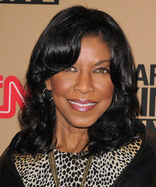 Natalie Cole Medium Wavy Formal Hairstyle