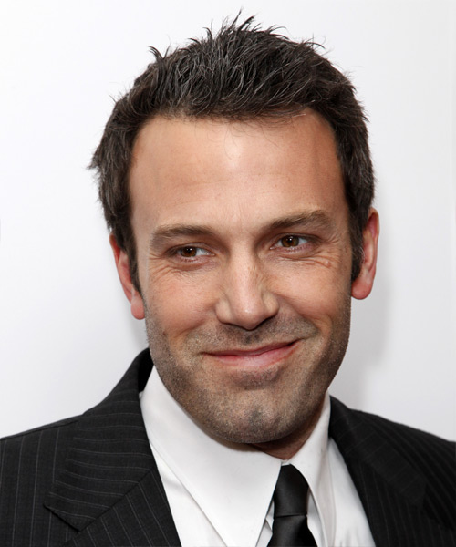 Ben Affleck Short Straight Casual Hairstyle - Dark Brunette Hair Color