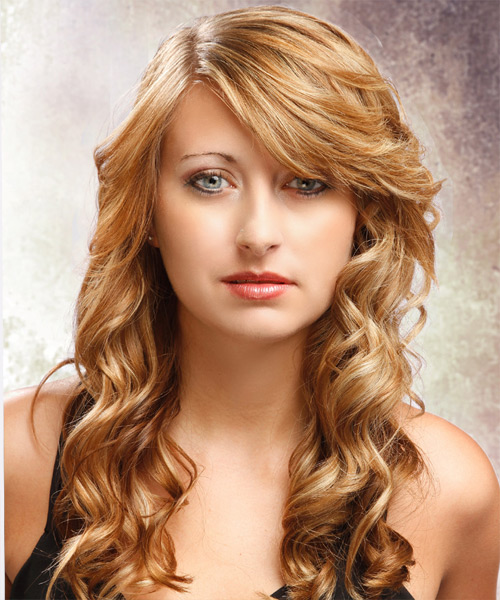 Long Curly Formal Hairstyle - Dark Blonde (Golden)