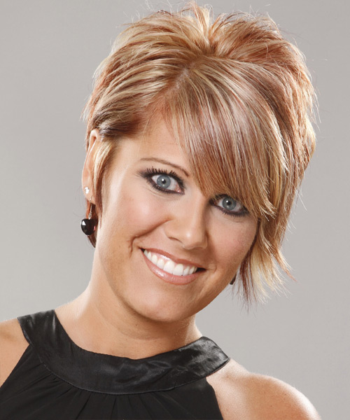 Short Straight Formal Hairstyle - Light Blonde (Copper) Hair Color