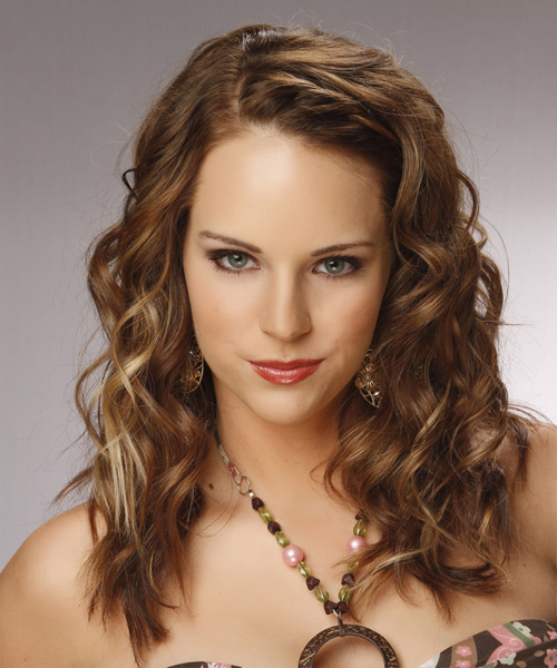 Long Curly Formal Hairstyle - Medium Brunette (Caramel) Hair Color