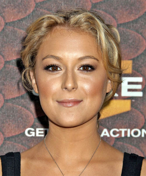 Alexa Vega Curly Casual Updo Hairstyle