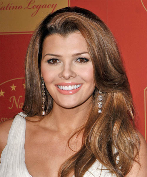 Ali Landry's luscious length was draped over her shoulders to show off long