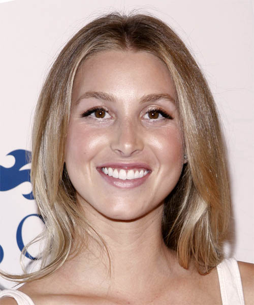 Whitney Port Long Straight Casual Hairstyle