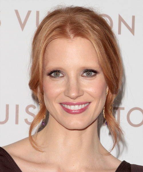 Jessica Chastain - Formal Updo Long Curly Hairstyle