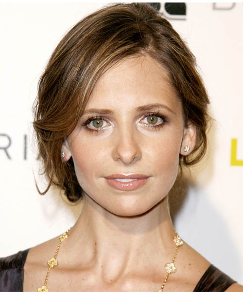 Sarah Michelle Gellar - Casual Updo Long Straight Hairstyle