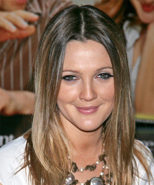 Drew Barrymore - Casual Long Straight Hairstyle