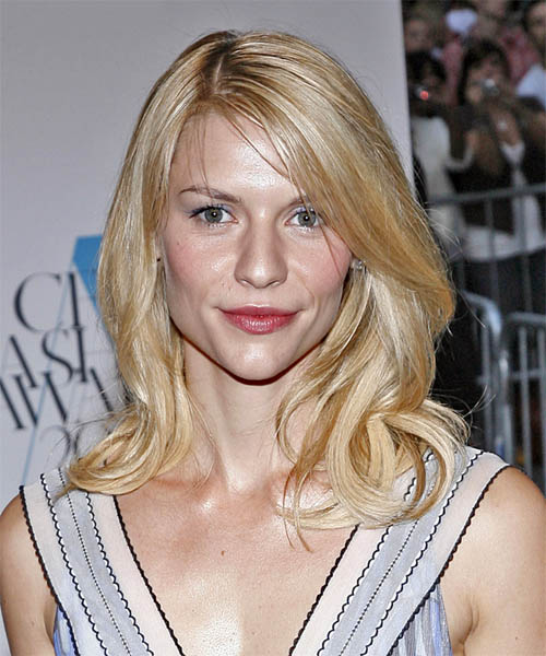 Claire Danes Long Wavy Casual Hairstyle - Light Blonde Hair Color