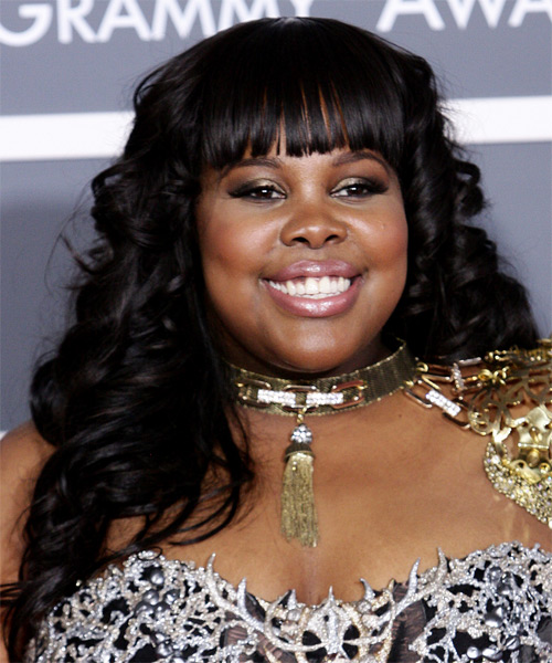 Amber Riley Long Curly Formal Hairstyle