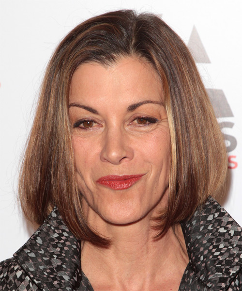 Wendie Malick Medium Straight Hairstyle - Medium Brunette (Chestnut)