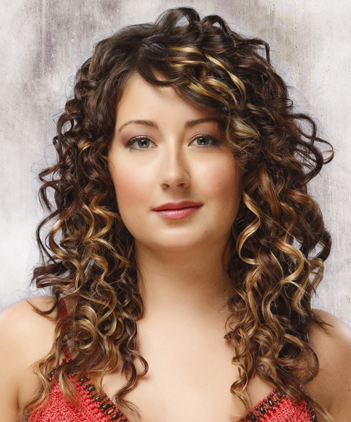 Long Curly Formal Hairstyle - Medium Brunette (Mocha)
