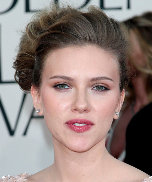 Scarlett Johansson Curly Formal Updo Hairstyle - Dark Blonde (Ash) Hair Color