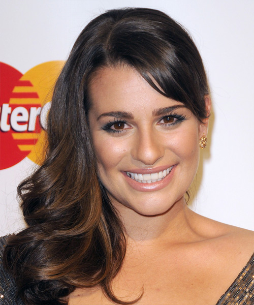 Lea Michele Long Wavy Formal