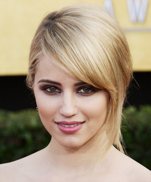 Dianna Agron Formal Straight Updo Hairstyle