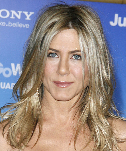 Jennifer Aniston Long Straight Casual Hairstyle - Medium Blonde (Champagne) Hair Color