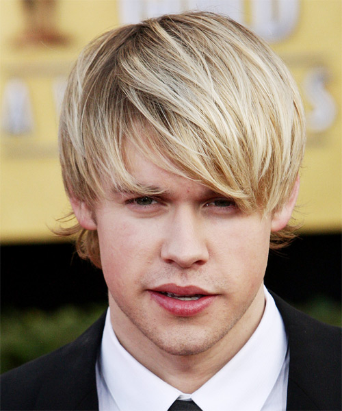 Chord Overstreet Medium Straight Casual Hairstyle - Light Blonde Hair Color