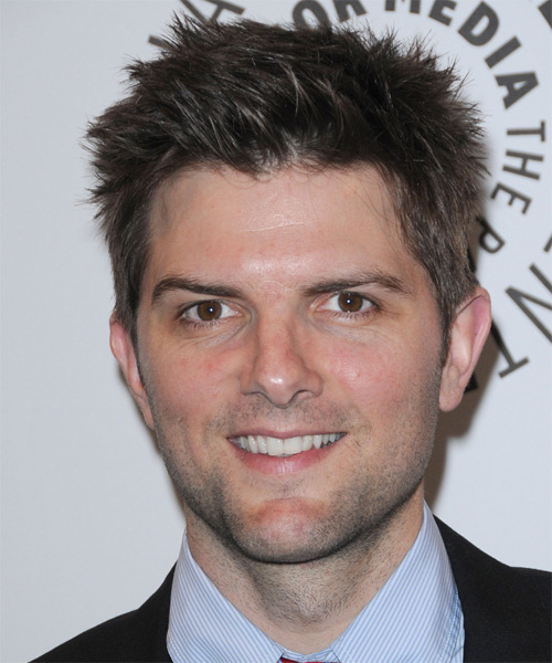 Adam Scott Short Straight Casual Hairstyle - Medium Brunette Hair Color