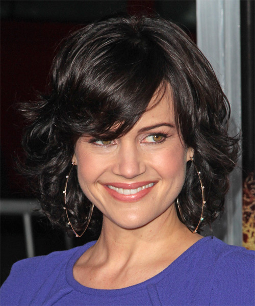 Carla Gugino Medium Wavy Hairstyle - Black