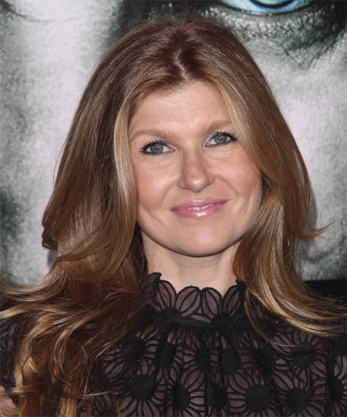 Connie Britton Long Straight Hairstyle - Light Brunette (Chestnut)