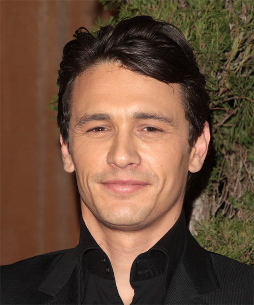 James Franco Short Straight Hairstyle - Dark Brunette