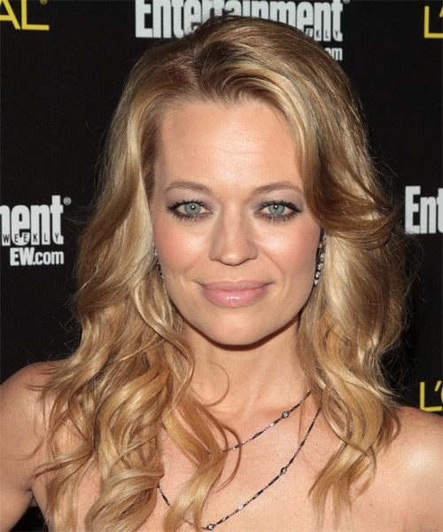 Jeri Ryan Long Wavy Hairstyle - Dark Blonde