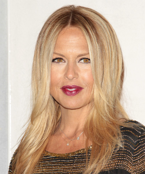 Rachel Zoe Long Straight Casual Hairstyle - Medium Blonde Hair Color