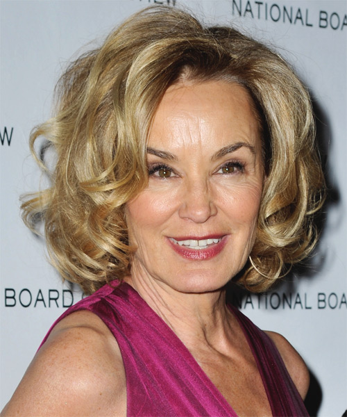 Jessica Lange Medium Curly Formal Hairstyle - Dark Blonde Hair Color