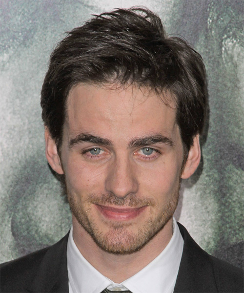 Colin O Donoghue Short Straight Hairstyle - Black