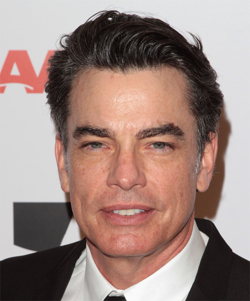 Peter Gallagher Short Straight Hairstyle - Dark Brunette