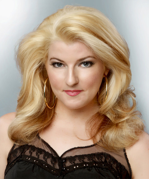 Medium Wavy Formal Hairstyle - Light Blonde (Golden)