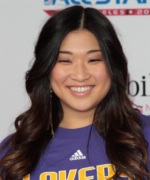 Jenna Ushkowitz - Casual Long Wavy Hairstyle