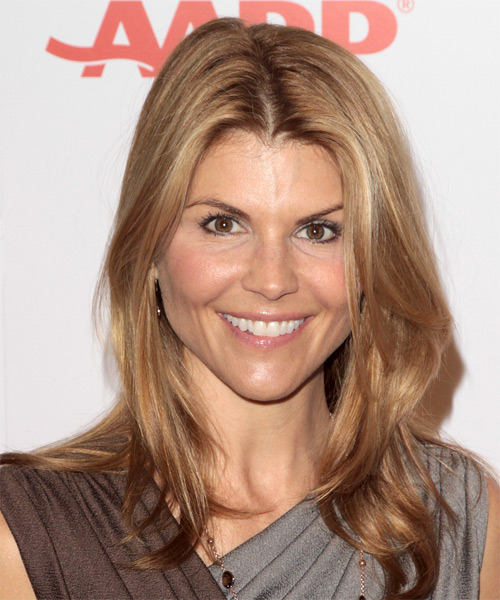Lori Loughlin Long Straight Hairstyle - Dark Blonde (Golden)