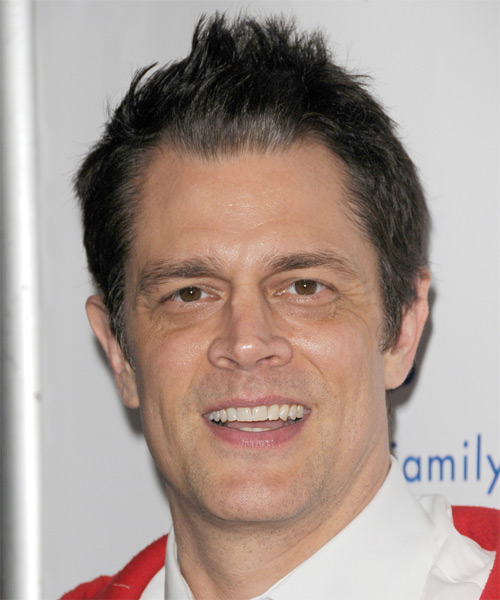Johnny Knoxville Short Straight Hairstyle - Dark Brunette (Ash)