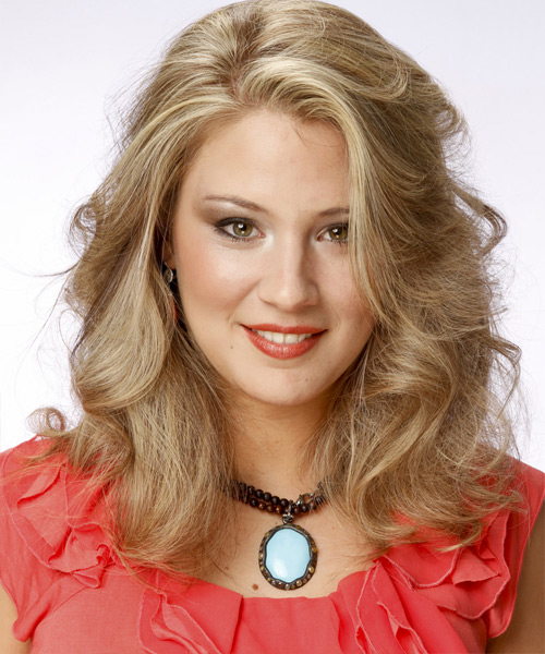 Medium Wavy Formal Hairstyle - Medium Blonde Hair Color