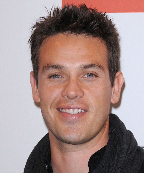 Kevin Alejandro Short Straight Casual Hairstyle - Dark Brunette Hair Color