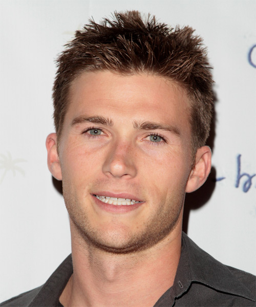 Scott Eastwood Short Straight Casual Hairstyle - Medium Brunette Hair Color