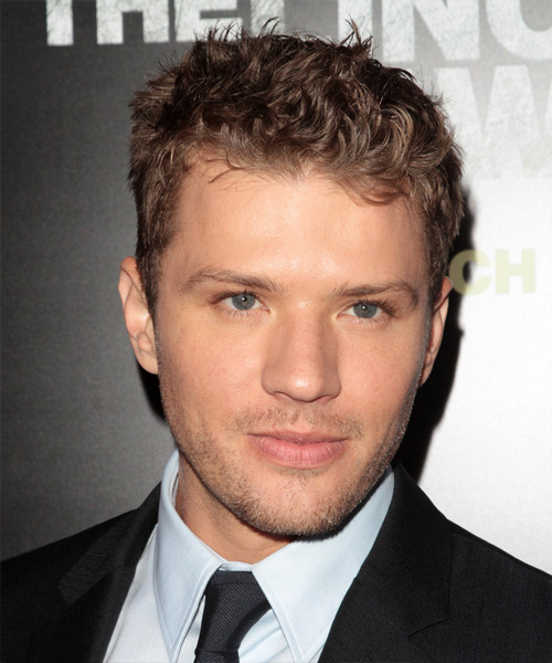 Ryan Phillippe Short Wavy Casual Hairstyle - Light Brunette Hair Color
