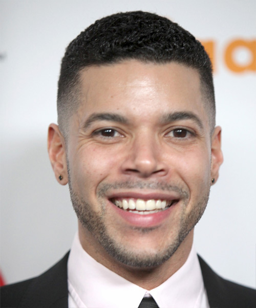 Wilson Cruz Short Wavy Formal Hairstyle - Black Hair Color