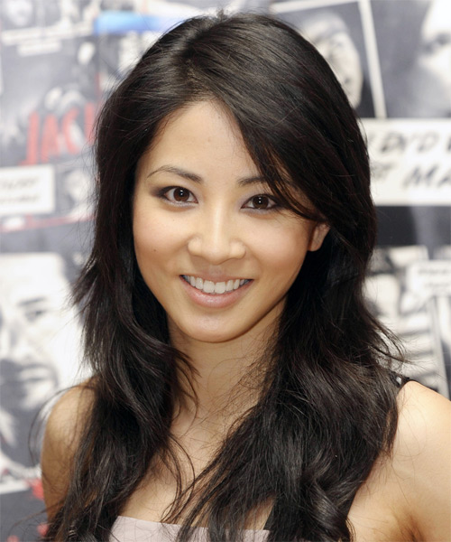 Jing Lusi Long Straight Casual Hairstyle - Black Hair Color