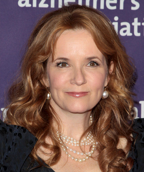 Lea Thompson Long Wavy Hairstyle - Medium Brunette (Chestnut)