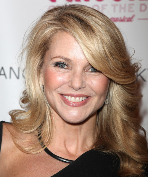 Christie Brinkley Long Wavy Hairstyle - Medium Blonde (Golden)