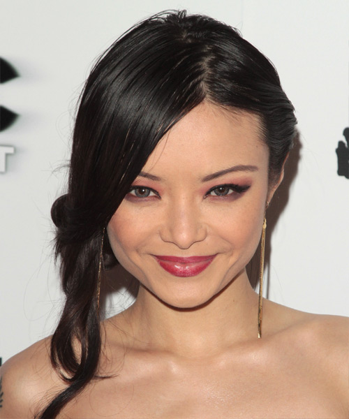 Tila Tequila Formal Straight Updo Hairstyle - Black