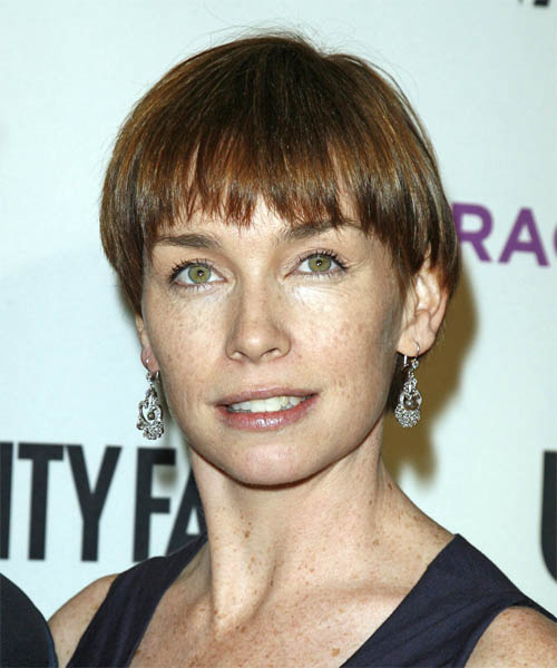 Julianne Nicholson Short Straight Hairstyle