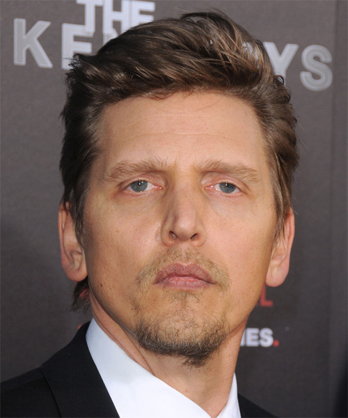 Barry Pepper Short Straight Hairstyle - Dark Brunette