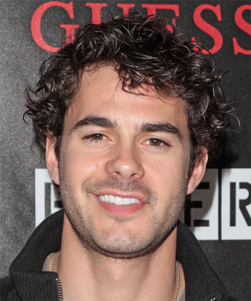 Jayson Blair Short Curly Casual Hairstyle - Dark Brunette Hair Color
