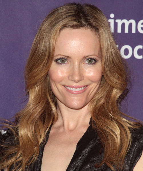 Leslie Mann Long Wavy Casual Hairstyle - Light Brunette (Golden) Hair Color