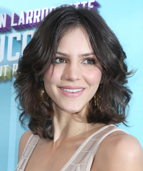 Katharine McPhee Medium Wavy Hairstyle - Medium Brunette