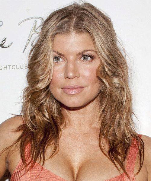 Fergie  - Casual Long Wavy Hairstyle