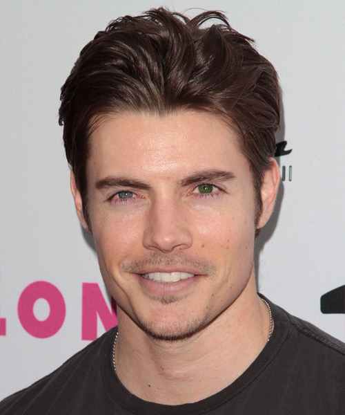 Josh Henderson Short Straight Hairstyle - Medium Brunette (Chocolate)