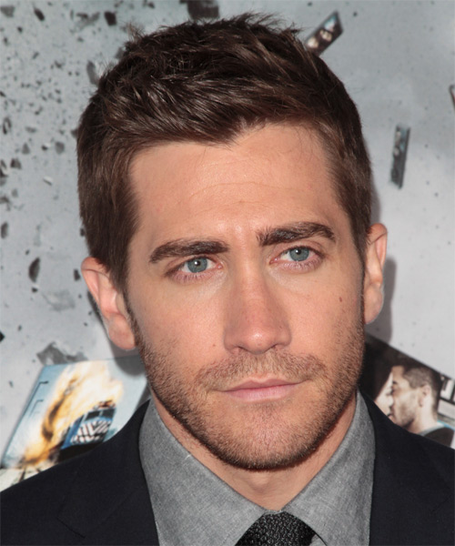 Jake Gyllenhaal Short Straight Hairstyle - Medium Brunette (Chocolate)